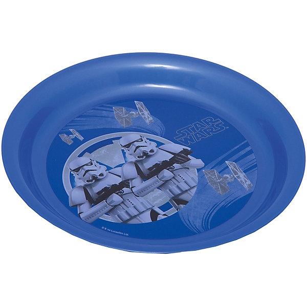 Тарелка Звездные войны (диаметр 19 см), Звездные войны, синийДетская посуда<br>Синяя тарелка Звездные войны (диаметр 19 см), Звездные войны – это отличный подарок для фаната вселенной Star Wars.<br>Тарелка Звездный войны выполнена из полипропилена и оформлена рисунком с изображением имперских штурмовиков. Тарелка не подходит для использования в посудомоечной машине и СВЧ-печи.<br><br>Дополнительная информация:<br><br>- Диаметр: 19 см.<br>- Глубина: 2 см.<br>- Материал: полипропилен<br>- Цвет: синий<br>- Размер упаковки: 19 х 19 х 2 см.<br>- Вес: 45 гр.<br><br>Синюю тарелку Звездные войны (диаметр 19 см), Звездные войны можно купить в нашем интернет-магазине.<br>Ширина мм: 190; Глубина мм: 190; Высота мм: 20; Вес г: 45; Возраст от месяцев: 36; Возраст до месяцев: 120; Пол: Унисекс; Возраст: Детский; SKU: 4536250;