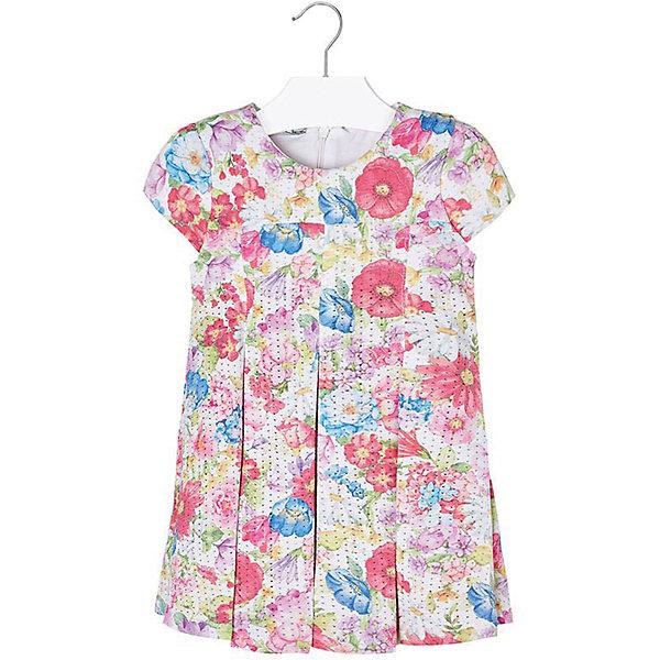 Купить Платье для девочки Mayoral, Индия, красный, 98, 134, 104, 116, 110, 122, 128, 92, Женский