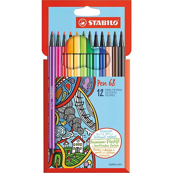 STABILO Фломастеры Stabilo Pen, 12 цветов