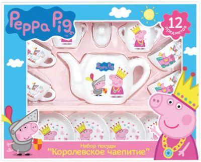 Посудка  Королевское Чаепитие  12 пр., Свинка Пеппа, артикул:4545609 - Свинка Пеппа