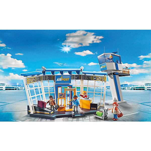 Конструктор Playmobil Городской Аэропорт Аэропорт с диспетчерской вышкойПластмассовые конструкторы<br>Характеристики товара:<br><br>• возраст: от 4 лет;<br>• материал: пластик;<br>• в комплекте: 5 фигурок, пункт досмотра, вышка, аксессуары;<br>• высота фигурки: 7,5 см;<br>• размер упаковки: 58,5х38,5х12,5 см;<br>• вес упаковки: 1,97 кг;<br>• страна бренда: Германия.<br><br>Игровой набор «Городской аэропорт: Аэропорт с диспетчерской вышкой» Playmobil включает в себя фигурки пассажиров и работников аэропорта, пункт для прохождения паспортного контроля и вышку для наблюдения за самолетами. У фигурок подвижные детали, в руки можно положить дополнительные аксессуары.<br> <br>Игровой набор «Городской аэропорт: Аэропорт с диспетчерской вышкой» Playmobil можно приобрести в нашем интернет-магазине.<br>Ширина мм: 592; Глубина мм: 390; Высота мм: 134; Вес г: 1761; Возраст от месяцев: 48; Возраст до месяцев: 120; Пол: Унисекс; Возраст: Детский; SKU: 4546144;