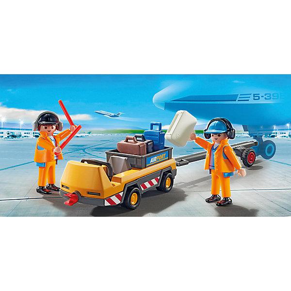 PLAYMOBIL® Конструктор Playmobil Городской Аэропорт Буксир самолета с наземной командой playmobil городской аэропорт буксир самолета с наземной командой 5396