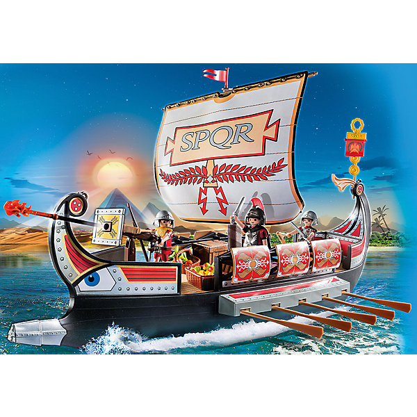 PLAYMOBIL® Конструктор Playmobil Римляне и Египтяне Корабль Римских воинов playmobil® конструктор playmobil римляне и египтяне лагерь расхитителей гробниц