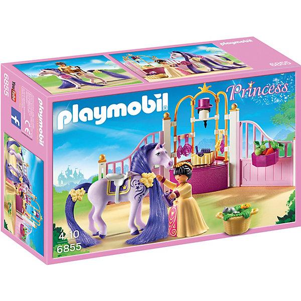 PLAYMOBIL® Конструктор Playmobil Замок Принцессы Королевская конюшня playmobil® конструктор playmobil полиция блокпост полиции