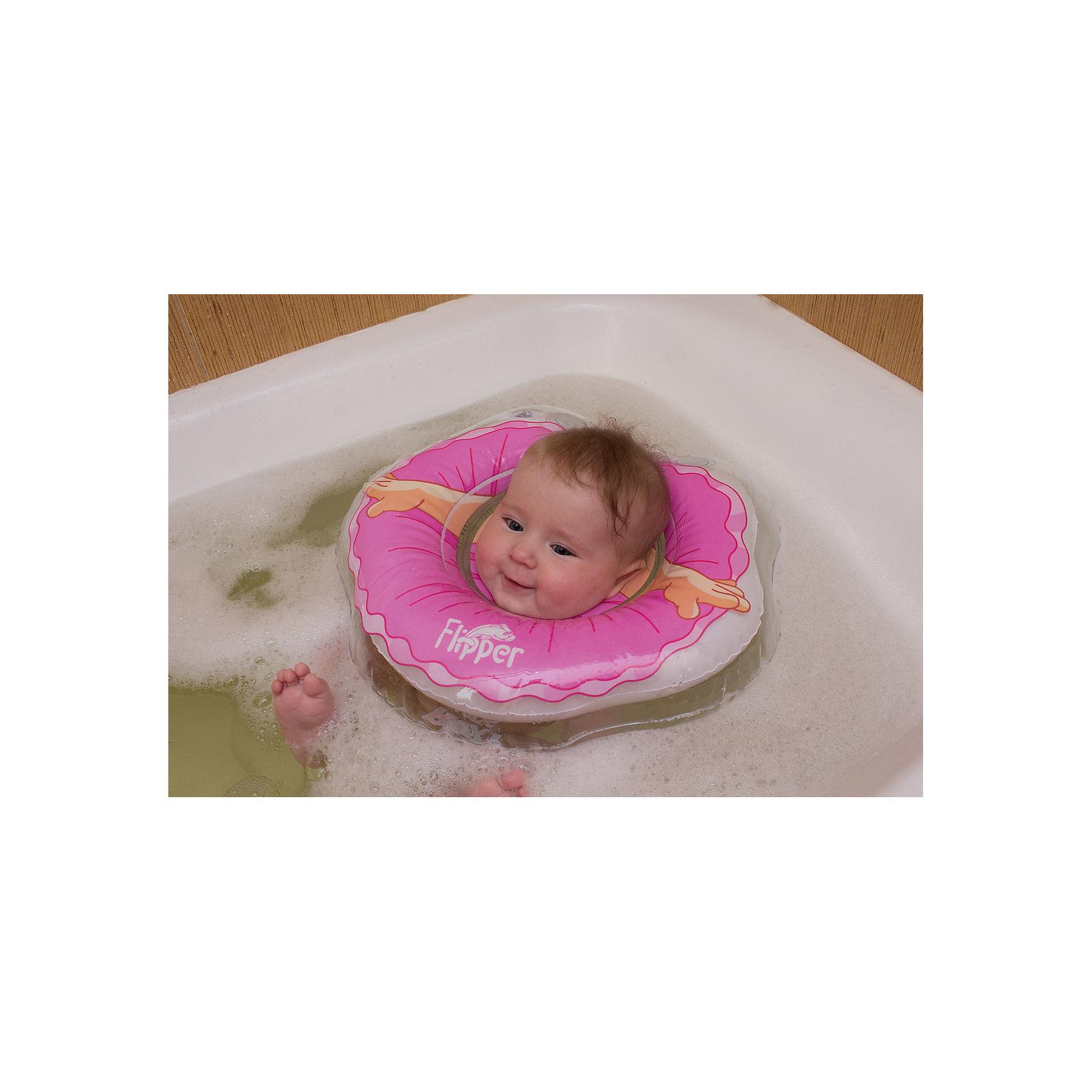 Круг на шею Flipper для купания малышей 0+ Балерина, Roxy-Kids