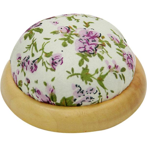 """Фотография товара игольница-подушечка """"Фиолетовые цветы"""" 7,3*4,5 см (4548394)"""