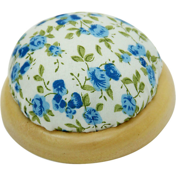 """Фотография товара игольница-подушечка """"Голубые цветы"""" 7,3*4,5 см (4548395)"""