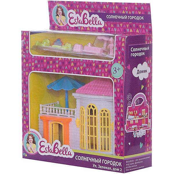 Домик Солнечный городок с мебелью, EstaBellaДомики для кукол<br>Домик Солнечный городок с мебелью, EstaBella (Эстабелла) – это красивый домик с мебелью для увлекательных сюжетно-ролевых игр.<br>Домик Солнечный городок с мебелью перенесет вашего ребенка в увлекательный мир игры, фантазии и воображения. Домик выполнен в нежных тонах, оснащен всем необходимым для игры. С помощью данной игрушки ребенок сможет разыграть разнообразные ситуации из жизни. Сюжетно-ролевая игра способствует развитию фантазии и воображения, творческого и логического мышления, речи и навыков общения. Игрушка выполнена из безопасного для детей пластика.<br><br>Дополнительная информация:<br><br>- В наборе: домик, мебель, 2 фигурки людей<br>- Материал: пластик<br>- Размер упаковки: 20х7х17 см.<br>- Вес: 239 гр.<br><br>Домик Солнечный городок с мебелью, EstaBella (Эстабелла) можно купить в нашем интернет-магазине.<br>Ширина мм: 200; Глубина мм: 70; Высота мм: 170; Вес г: 239; Возраст от месяцев: 36; Возраст до месяцев: 72; Пол: Женский; Возраст: Детский; SKU: 4552897;