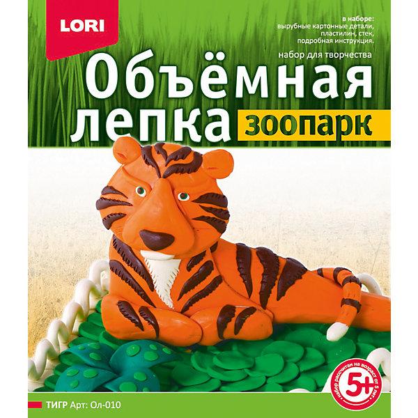 LORI Лепка объемная Тигр всё для лепки lori объемная лепка из пластилина китеж град церковь и колокольня