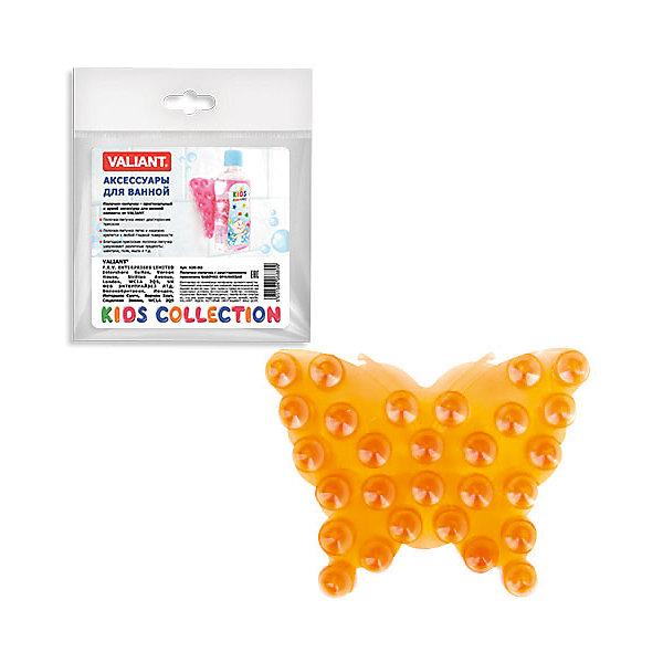 Полочка-липучка Оранжевая бабочка с двусторонними присоскамиАксессуары для ванны<br>Полочка-липучка - это оригинальная игрушка для купания Вашего малыша, а так же функциональное решение по удобному креплению аксессуаров для ванной комнаты: шампуни, жидкое мыло и т.д.<br><br>Дополнительная информация:<br><br>- материал: полимеры<br>- размер: 10*7.5 см.<br><br>Полочку-липучка  Оранжевая бабочка с двусторонними присосками можно купить в нашем интернет-магазине.<br>Ширина мм: 135; Глубина мм: 8; Высота мм: 160; Вес г: 17; Возраст от месяцев: -2147483648; Возраст до месяцев: 2147483647; Пол: Унисекс; Возраст: Детский; SKU: 4563401;