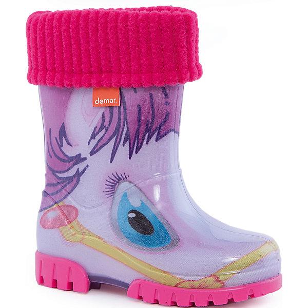 Фотография товара резиновые сапоги Twister Lux Print для девочки DEMAR (4576024)