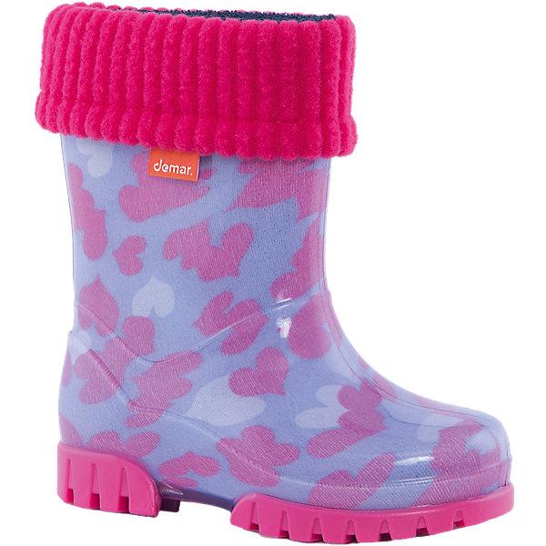 Фотография товара резиновые сапоги Twister Lux Print для девочки DEMAR (4576072)