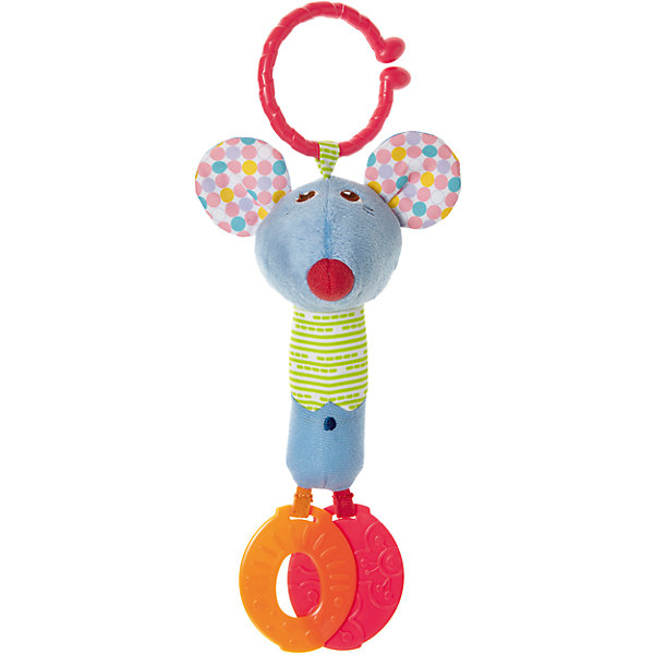 Погремушка для коляски Мышонок, CHICCOИгрушки для новорожденных<br>Погремушка для коляски Мышонок, CHICCO (ЧИКО) – это многофункциональная развивающая игрушка.<br>Погремушка для коляски Мышонок выполнена из мягкой ткани разной фактуры, у игрушки есть удобное крепление в виде широкого разомкнутого колечка для подвешивания ее к бортику кроватки или бамперу коляски, благодаря которому можно взять игрушку на прогулку. У мышонка забавная мордочка, в уши игрушки вставлены шуршащие элементы. К ножкам мышонка прикреплены прорезыватели, которые помогут малышу снять неприятные ощущения при появлении первых зубов. Яркая игрушка поможет развить у малыша мелкую моторику рук, звуковое и зрительное восприятие, тактильные ощущения, координацию движений, а милый жизнерадостный образ подарит малышу хорошее настроение.<br><br>Дополнительная информация:<br><br>- Материал: текстиль, пластик<br>- Размер упаковки: 188х142х70 мм.<br>- Вес: 75 гр.<br>- Уход: допускается машинная стирка игрушки при 30 градусах<br><br>Погремушку для коляски Мышонок, CHICCO (ЧИКО) можно купить в нашем интернет-магазине.<br>Ширина мм: 188; Глубина мм: 142; Высота мм: 70; Вес г: 75; Возраст от месяцев: 6; Возраст до месяцев: 36; Пол: Унисекс; Возраст: Детский; SKU: 4577222;