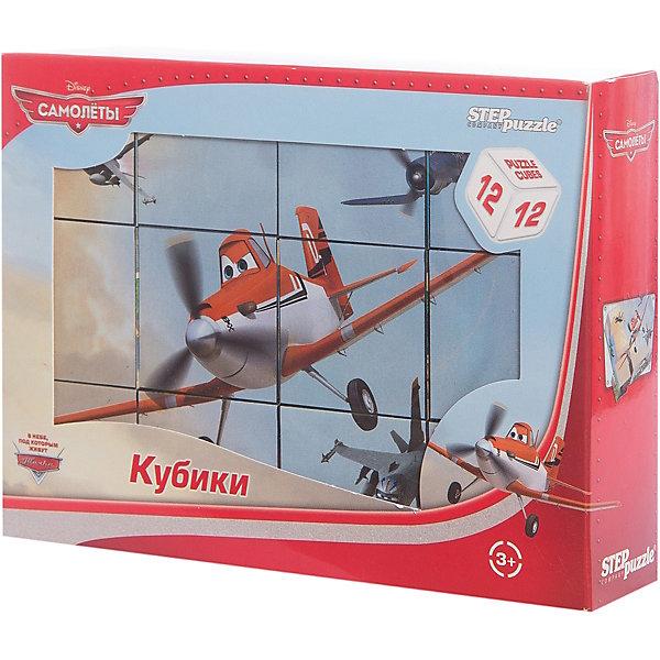 Кубики Самолеты, 12 шт, Step PuzzleСамолеты<br>Кубики Самолеты, 12 шт, Step Puzzle (Степ Пазл) - это кубики с яркими запоминающимися картинками.<br>Красочный набор кубиков с изображением персонажей популярного мультфильма Disney Самолёты предназначен для развития логики, внимания и мышления у детей младшего возраста. Кубики изготовлены из легкого прочного пластика. Яркие, сочные картинки, наклеенные на пластик, хорошо держатся, рисунки глянцевые. Наборы из 12 кубиков – для тех, кто освоил навык сборки картинки из 9 кубиков. Заложенный дидактический принцип «от простого к сложному» позволит ребёнку поверить в свои силы.<br><br>Дополнительная информация:<br><br>- В наборе: 12 кубиков<br>- Сторона кубика: 4 см.<br>- Размер готовой картинки: 12х16 см.<br>- Материал: пластик, картон<br>- Упаковка: картонная коробка<br>- Размер упаковки: 160x40x120 мм.<br>- Вес: 400 гр.<br><br>Кубики Самолеты, 12 шт, Step Puzzle (Степ Пазл) можно купить в нашем интернет-магазине.<br>Ширина мм: 160; Глубина мм: 40; Высота мм: 120; Вес г: 400; Возраст от месяцев: 36; Возраст до месяцев: 84; Пол: Унисекс; Возраст: Детский; SKU: 4588234;