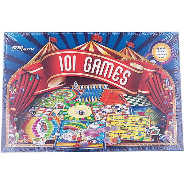 101 лучшая игра мира, Step PuzzleИгры мемо<br>101 лучшая игра мира, Step Puzzle (Степ Пазл) – это увлекательные настольные игры для всей семьи.<br>Мы собрали в одной коробке 100 и 1 лучшую игру со всего мира. Здесь Вы найдете: мемо и карточные игры, шахматы и шашки, нарды, различные игры-бродилки и игры с кубиками. Также можно поиграть в игру на ловкость, в которой с помощью катапульт нужно забрасывать колпачки в отверстия на специальном поле. Все игры входящие в комплект очень разнообразны и будут интересны как детям, так и их родителям.<br><br>Дополнительная информация:<br><br>- В комплекте: двусторонние игровые поля - 6 шт.; 32 шашки; 32 наклейки на шашки (8 шт. запасные); 3 кубика с точками; 2 цветных кубика; фишки (красные, желтые, зеленые, синие - по 16 шт.); фишки (оранжевые и фиолетовые - по 10 шт.); 13 жетонов; колпачки четырех цветов - 12 шт.; батут сборный из картона; 4 катапульты; маленькие парные карточки - 26 шт.; большие парные карточки - 30 шт.; книга с правилами<br>- Материал: пластик, картон<br>- Упаковка: картонная коробка<br>- Размер упаковки: 400x40x270 мм.<br>- Вес: 1, 624 кг.<br><br>Набор «101 лучшая игра мира», Step Puzzle (Степ Пазл) можно купить в нашем интернет-магазине.<br>Ширина мм: 400; Глубина мм: 60; Высота мм: 270; Вес г: 400; Возраст от месяцев: 36; Возраст до месяцев: 144; Пол: Унисекс; Возраст: Детский; SKU: 4588259;