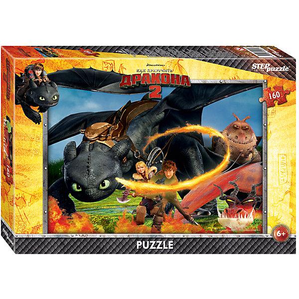 Пазл Как приручить дракона-2, 160 детелей, Step PuzzleПазлы классические<br>Пазл Как приручить дракона-2, 160 деталей, Step Puzzle (Степ Пазл) – это замечательный красочный пазл с изображением любимых героев.<br>Погрузитесь в мир головокружительных приключений вместе с героями мультфильма DreamWorks «Как приручить дракона 2» Прошло пять лет с тех пор как викинги и драконы примирились. Ни что не нарушает спокойную жизнь на острове Олух. Ребята соревнуются в драконьих гонках. Иккинг и Беззубик путешествуют по небу и составляют карту неизвестных мест. Но их мирной жизни приходит конец. Новый могущественный враг надвигается на остров. Викингам и драконам предстоит пережить много опасных приключений и сразиться за мир. Подарите ребенку чудесный пазл Как приручить дракона-2, и он будет увлеченно подбирать детали, пока не составит яркую и интересную картинку, на которой изображены герои анимационного фильма. Сборка пазла Как приручить дракона-2 от Step Puzzle (Степ Пазл) подарит Вашему ребенку не только множество увлекательных вечеров, но и принесет пользу для развития. Координация, моторика, внимательность легко тренируются, пока ребенок увлеченно подбирает детали. Качественные фрагменты пазла отлично проклеены и идеально подходят один к другому, поэтому сборка пазла обеспечит малышу только положительные эмоции. Вы будете использовать этот пазл не один год, ведь благодаря качественной нарезке детали не расслаиваются даже после многократного использования.<br><br>Дополнительная информация:<br><br>- Количество деталей: 160<br>- Материал: картон<br>- Размер собранной картинки: 34,5х24 см.<br>- Отличная проклейка<br>- Долгий срок службы<br>- Детали идеально подходят друг другу<br>- Яркий сюжет<br>- Упаковка: картонная коробка<br>- Размер упаковки: 280x40x195 мм.<br>- Вес: 400 гр.<br><br>Пазл Как приручить дракона-2, 160 деталей, Step Puzzle (Степ Пазл) можно купить в нашем интернет-магазине.<br>Ширина мм: 280; Глубина мм: 40; Высота мм: 195; Вес г: 400; Возраст от месяцев: 60