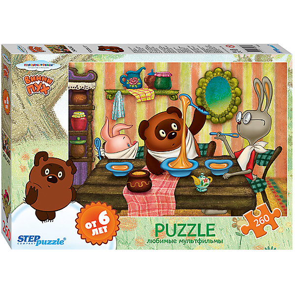 Степ Пазл Пазл Винни Пух, 260 деталей, Step Puzzle пазл 3d 60 элементов step puzzle disney винни пух 98108
