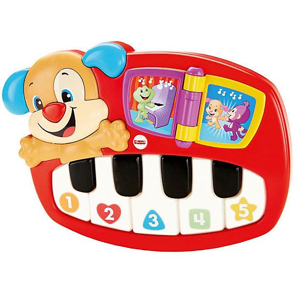 Mattel Музыкальная игрушка Fisher-price Смейся и учись Пианино учёного щенка mattel интерактивная игрушка fisher price смейся и учись телефон учёного щенка