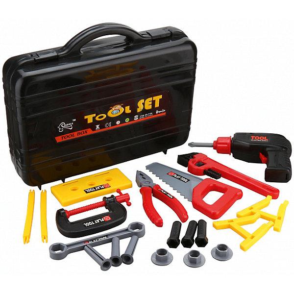 ALTACTO Игровой набор инструментов Заветный чемоданчик (20 предм., в кейсе), ALTACTO maxitoys игровой набор инструментов с дрелью в кейсе большой