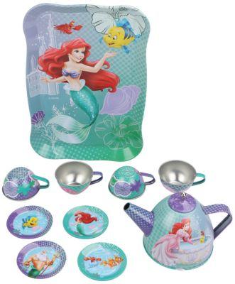 Набор чайной посуды  Ариэль  (11 предм., металл., в чемоданчике), Принцессы Дисней, артикул:4590226 - Категории