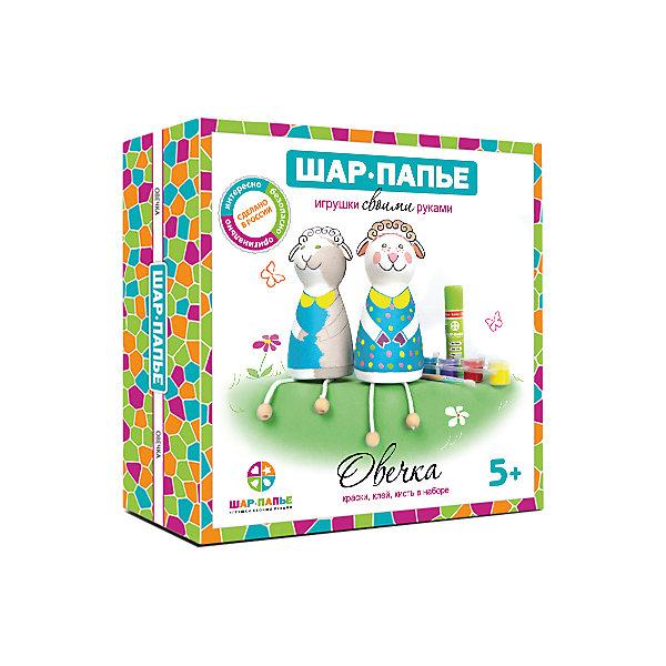 Шар Папье Набор для раскрашивания Овечка из Шар-Папье набор для творчества шар папье петушок от 5 лет в02701