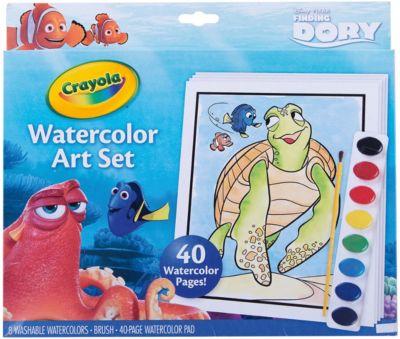 Набор с краской и раскрасками  В поисках Дори , Crayola, артикул:4592402 - Раскраски