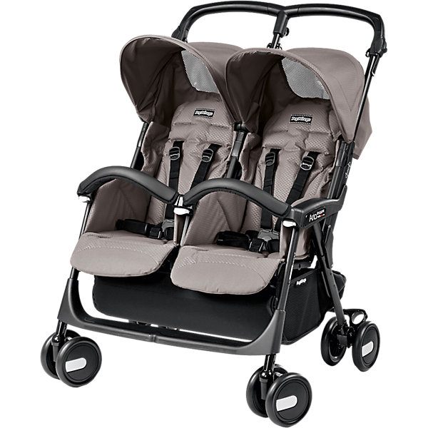 Фотография товара прогулочная коляска для двойни Peg-Perego Aria Shopper Twin, Mod Beige (4593825)