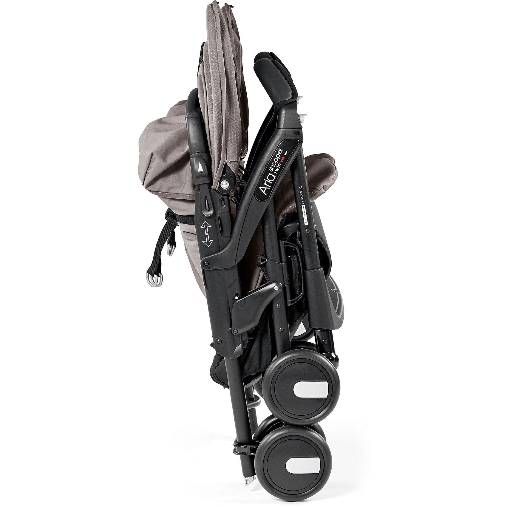 Peg Perego Прогулочная коляска для двойни Peg-Perego Aria Shopper Twin, Mod Beige
