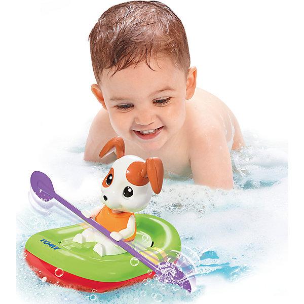 Игрушка для ванны Щенок на лодке, TOMYДинамические игрушки<br>Характеристики игрушку для ванны Щенок на лодке: <br><br>- возраст: от 10 месяцев<br>- пол: для мальчиков и девочек<br>- комплект: щенок, лодка.<br>- материал: пластик.<br>- размер упаковки: 21 * 21 * 19 см.<br>- упаковка: картонная коробка открытого типа.<br>- страна обладатель бренда: Великобритания.<br><br>Заводная игрушка для ванны Щенок в лодке поможет сделать процесс купания для малыша более увлекательным. Очаровательный щенок с висячими ушками сможет понравиться каждому ребенку. Эта собачка умеет грести и обожает плескаться. Достаточно сделать пару оборотов заводного механизма, после чего щенок начнет наворачивать круги по воде. Такая игрушка принесет море положительных эмоций малышу во время купания.<br><br>Игрушка для ванны Щенок на лодке торговой марки Tomy (Томи) можно купить в нашем интернет-магазине.<br>Ширина мм: 220; Глубина мм: 218; Высота мм: 195; Вес г: 347; Возраст от месяцев: 10; Возраст до месяцев: 36; Пол: Унисекс; Возраст: Детский; SKU: 4599020;