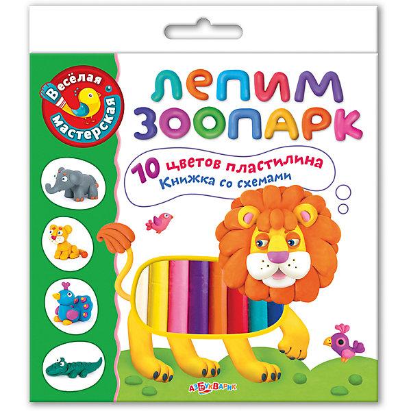 Лепим зоопаркКартины из пластилина<br>Характеристики товара:<br><br>? возраст: от 12 месяцев;<br>? в комплекте: 10 цветов пластилина, книжка-инструкция;<br>? материал; пластилин, бумага;<br>? размер упаковки: 18х20,4 см.;<br>? вес упаковки: 270 гр;<br>? страна бренда: Россия.<br><br>В набор «Лепим Зоопарк» входит 10 цветов пластилина и книжка с забавными стихами.<br><br>Лепить животных необходимо по схемам, которые входят в комплект. С получившимися фигурками можно играть.<br><br>Лепка развивает фантазию, моторику рук, цветовосприятие и подарит ребенку море положительных эмоций. <br><br>Набор Лепим зоопарк можно купить в нашем интернет-магазине.<br>Ширина мм: 180; Глубина мм: 200; Высота мм: 20; Вес г: 270; Возраст от месяцев: 12; Возраст до месяцев: 36; Пол: Унисекс; Возраст: Детский; SKU: 4603660;