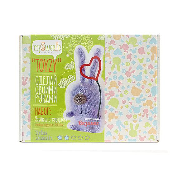 TOYZY Набор для вязания Toyzy Зайка с сердцем набор для вязания toyzy кот грустик tz k001