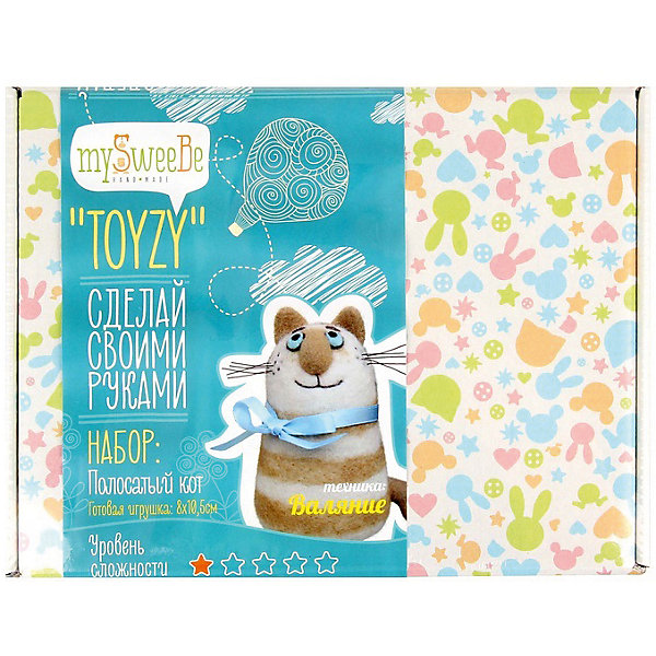 TOYZY Набор для валяния Toyzy Полосатый кот набор для вязания и валяния toyzy овечка tz m002