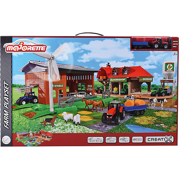 Majorette Набор Majorette Creatix Большая ферма + 1 трактор majorette majorette питстоп creatix 1 авто