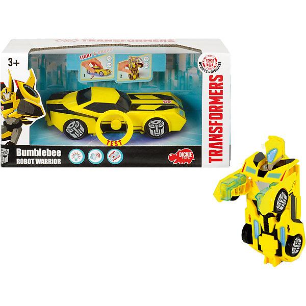 Dickie Toys Робот-машинка Dickie Toys Трансформеры Бамблби, 15 см машины dickie трансформеры боевая машинка sideswipe со светом и звуком 20 см