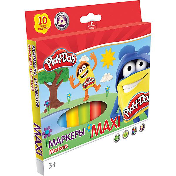 Darpeje Фломастеры Darpeje Play-Doh Maxi, 10 цветов