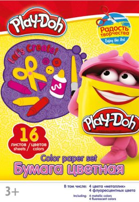 Play-Doh Цветная бумага 16 цветов, Play-Doh недорого