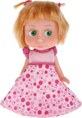 Кукла Карапуз Маша и Медведь Маша в платье для Дня рождения, озвученная, 15 см, артикул:4614958 - Категории