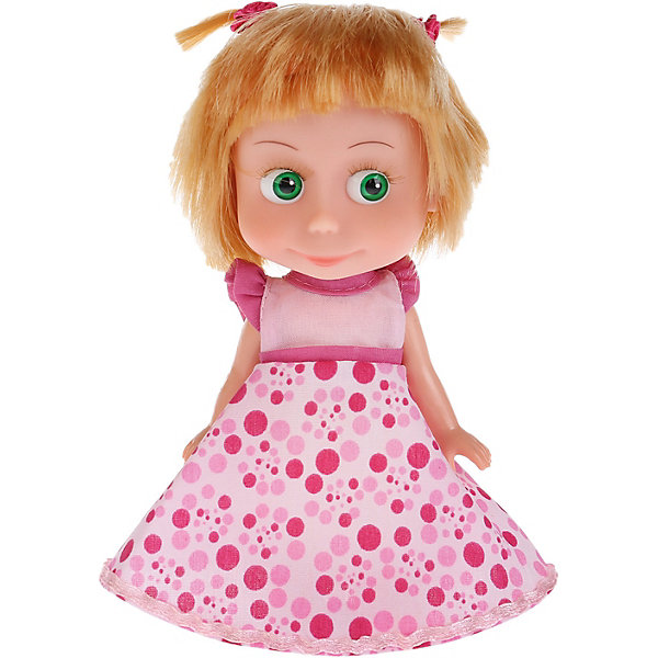 Купить Кукла Карапуз Маша и Медведь Маша в платье для Дня рождения, озвученная, 15 см, Китай, Женский