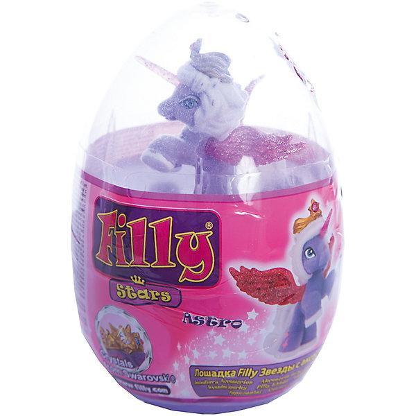 Набор Filly Звезды Astro, в яйце, DraccoКоллекционные и игровые фигурки<br>Новые лошадки Филли в необычной упаковке. В этом стильном прозрачном яйце очень удобно хранить и переносить любимые фигурки. <br>Главным отличием фигурок из серии Звезды являются крылья. Они приобрели иную более привлекательную форму, а также дизайн. Благодаря новым расцветками они блестят еще ярче.<br><br>Дополнительная информация:<br><br>В данный набор входит одна фигурка лошадки, два аксессуара, брошюра коллекционера, а также 4 листа с тематическими наклейками.<br>В новую линейку вошли 22 новых персонажей + 1 новый редкий герой. Все они принадлежат к 5 новым семействам лошадок. Среди них Семейство звездного света, Семейство небесного света, Семейство солнечного света и семейство сумеречного света. Персонажи из последнего пятого семейства (Семейство лунного света) появятся в продаже этой осенью.<br><br>Набор Filly Звезды Astro, в яйце, Dracco можно купить в нашем магазине.<br>Ширина мм: 45; Глубина мм: 180; Высота мм: 170; Вес г: 120; Возраст от месяцев: 36; Возраст до месяцев: 96; Пол: Женский; Возраст: Детский; SKU: 4618237;