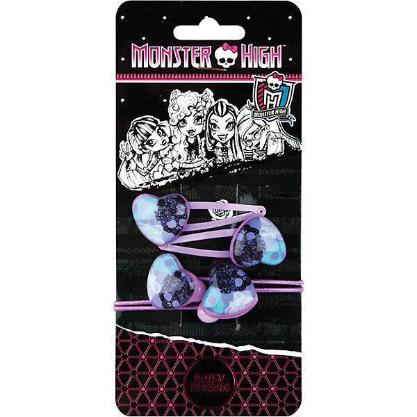 Daisy Design Набор аксессуаров для волос Monster High + стикер набор аксессуаров для волос daisy design sweet hearts бантик