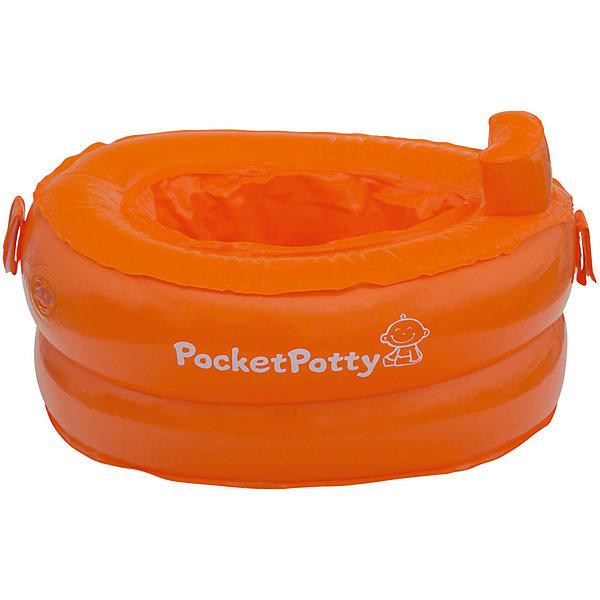Купить Надувной дорожный горшок PocketPotty со сменными пакетами, Китай, оранжевый, Унисекс