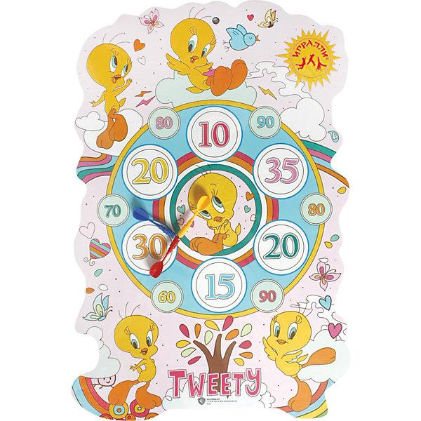 Дартс Твитти, 58/40см, InSummerДартс<br>Дартс с милой птичкой Твитти создан специально для детей, любящих интересно проводить время. На доске есть круги, в которых написано количество очков, набранных ребенком. С птичкой Твитти играть в дартс будет еще интереснее!<br><br>Дополнительная информация:<br>Размер: 58х40 см<br>Вес: 28 грамм<br>Дартс Твитти можно купить в нашем интернет-магазине.<br>Ширина мм: 580; Глубина мм: 400; Высота мм: 50; Вес г: 28; Возраст от месяцев: 36; Возраст до месяцев: 120; Пол: Унисекс; Возраст: Детский; SKU: 4624437;
