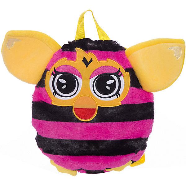 1Toy Furby рюкзак 35 см, в полоску, 1Toy игрушка 1toy подушка furby в полоску т57472