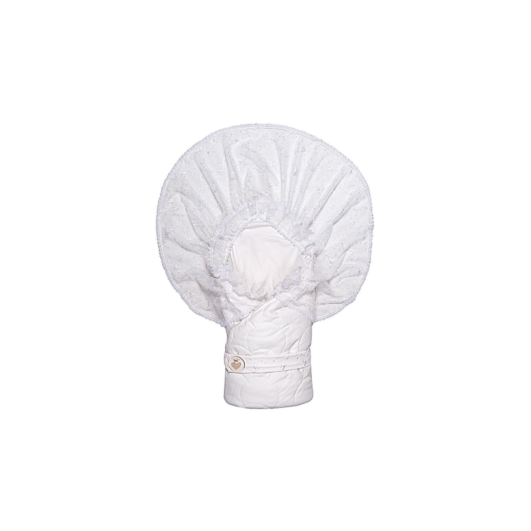 Конверт-одеяло на выписку Малютка, Сонный гномик, белый