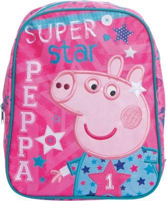 Рюкзак Суперзвезда, Свинка Пеппа 30*25*12,5 см, артикул:4635151 - Свинка Пеппа