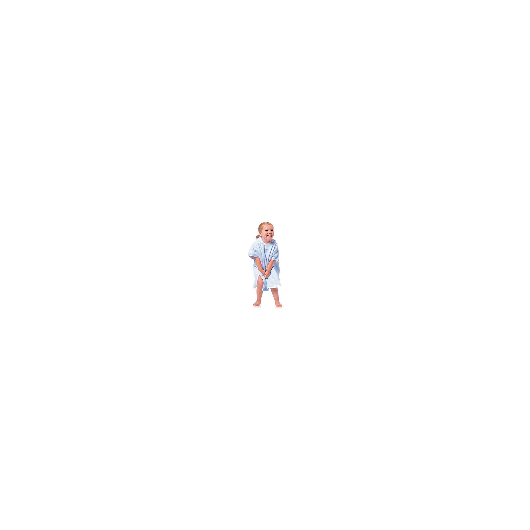Махровое пончо 9-36 мес., Red Castle, белый/темно-серый (RED CASTLE)