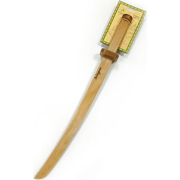 Катана из бука, ЯиГрушкаИгрушечное оружие<br>Катана из бука, ЯиГрушка, идеально подходит для сюжетно-ролевых игр, где каждый мальчишка может почувствовать себя настоящим воином и участником великих сражений. Меч имеет форму классического самурайского оружия и выполнен из натурального бука. Его поверхность хорошо обработана и отшлифована, что делает игрушку безопасной для ребенка. Имеется специальный ограничитель, который предотвращает соскальзывание руки с рукоятки меча.<br><br>Дополнительная информация:<br><br>- Материал: древесина (бук).<br>- Размер игрушки: 65 х 9,5 см. <br>- Вес: 0,2 кг.<br><br>Катану из бука, ЯиГрушка, можно купить в нашем интернет-магазине.<br>Ширина мм: 95; Глубина мм: 650; Высота мм: 60; Вес г: 180; Возраст от месяцев: 60; Возраст до месяцев: 120; Пол: Мужской; Возраст: Детский; SKU: 4637843;