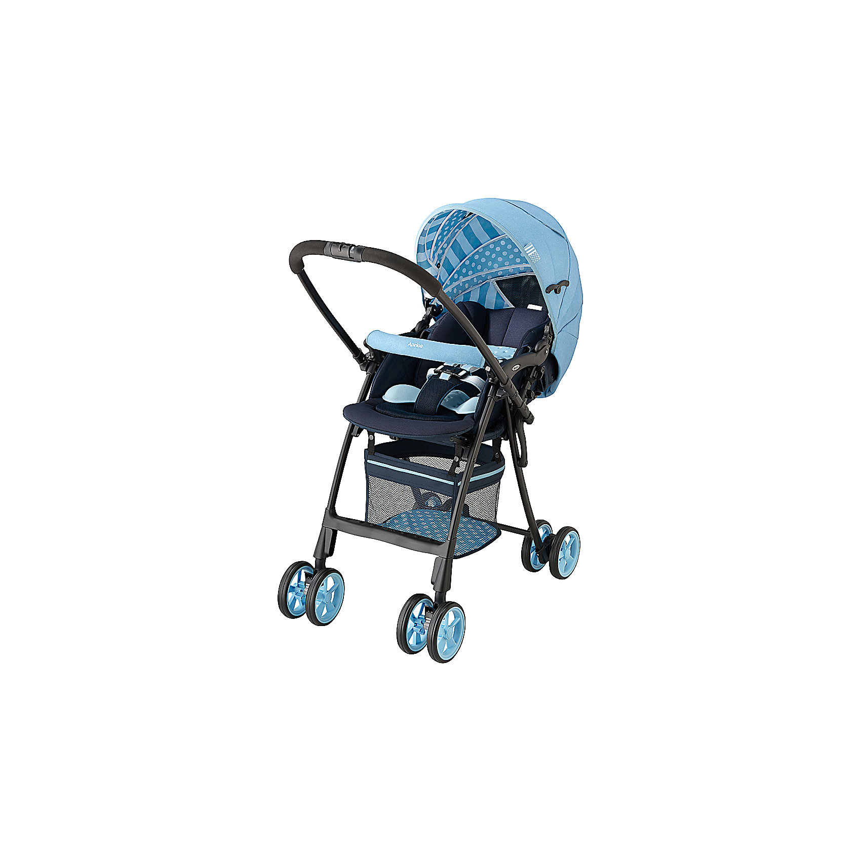 Прогулочная коляска FlyLe dungaree blue, Aprica, голубой
