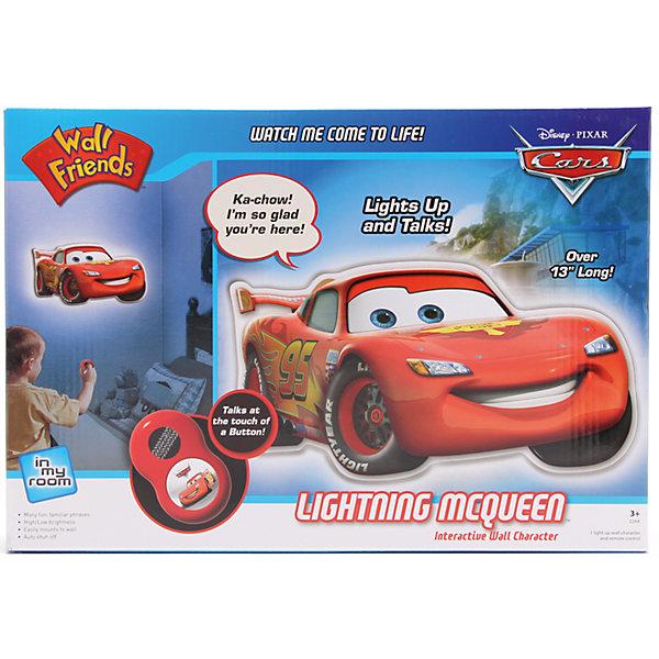 Светильник МакКуинДетские предметы интерьера<br>Светильник МакКуин – это светильник – ночник со звуковыми эффектами, который придаст комнате теплое освещение, особый уют.<br>Детский настенный светильник сделан в виде Молнии МакКуина – героя мультсериала Тачки. Датчик освещенности включает его автоматически с наступлением сумерек. Светильник может управляться с помощью пульта дистанционного управления с 1 большой кнопкой. Включите светильник и наблюдайте за тем, как ваш герой оживает. Он светится приятным мягким светом и общается с вами. Маккуин произносит веселые фразы из мультфильма на английском языке (переключаются кнопкой на пульте).<br><br>Дополнительная информация:<br><br>- Возраст: 3+<br>- В комплекте: светильник, пульт ДУ<br>- Оснащен функцией автоотключения (через 15 минут после последнего действия)<br>- Монтируется на стену с помощью болтов (есть 3 специальные отверстия)<br>- Батарейки: 3 типа АА, 2 типа ААА (не входят в комплект)<br>- Материал: высококачественный пластик<br>- Размер упаковки: 7х25х37 см.<br>- Вес: 450 гр.<br><br>Светильник МакКуин можно купить в нашем интернет-магазине.<br>Ширина мм: 7; Глубина мм: 25; Высота мм: 37; Вес г: 450; Возраст от месяцев: 36; Возраст до месяцев: 168; Пол: Унисекс; Возраст: Детский; SKU: 4639635;