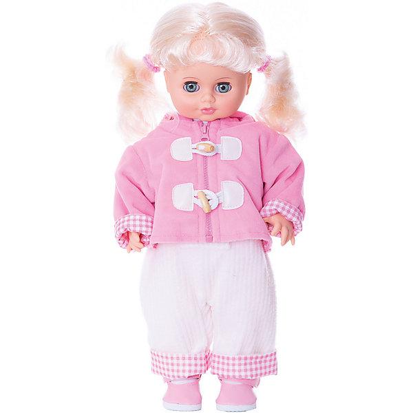 Кукла Инна 8 (пластмассовая), со звуком, 43 см, ВеснаКуклы и аксессуары<br>Какая девочка не любит кукол?! Кукла для девочки - это не только игрушка, с которой можно весело провести время, кукла - это возможность отрабатывать навыки поведения в обществе, учиться заботе о других, делать прически и одеваться согласно моде и поводу.<br>Эта красивая классическая кукла не только эффектно выглядит, она дополнена звуковым модулем! Игрушка модно одета и снабжена аксессуарами. Такая кукла запросто может стать самой любимой игрушкой! Произведена из безопасных для ребенка и качественных материалов.<br><br>Дополнительная информация:<br><br>цвет: разноцветный;<br>материал: пластик, текстиль;<br>комплектация: кукла, одежда, аксессуары;<br>высота: 43 см.<br><br>Куклу Инна 8, со звуком, от компании Весна можно купить в нашем магазине.<br>Ширина мм: 210; Глубина мм: 130; Высота мм: 430; Вес г: 550; Возраст от месяцев: 36; Возраст до месяцев: 120; Пол: Женский; Возраст: Детский; SKU: 4642024;